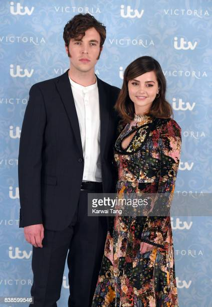 Tom Hughes and Jenna Coleman attend the 'Victoria' Season 2 press screening at the Ham Yard Hotel on August 24 2017 in London England