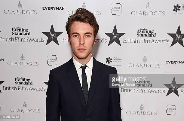 Tom Hughes arrives at The London Evening Standard British Film Awards at Claridge's Hotel on December 8 2016 in London England