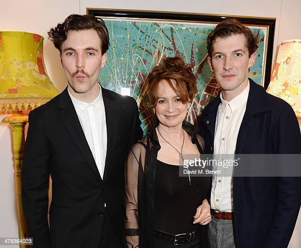 """Tom Hughes, Francesca Annis and Gwilym Lee attend the afterparty for Peter Gill's """"Versailles"""" at The Hospital Club on February 27, 2014 in London,..."""