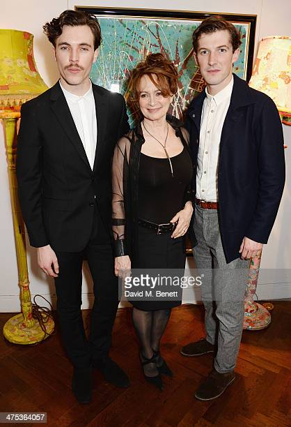 Tom Hughes Francesca Annis and Gwilym Lee attend the afterparty for Peter Gill's Versailles at The Hospital Club on February 27 2014 in London England