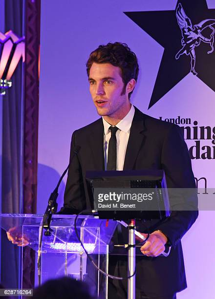 Tom Hughes presents the Best Supporting Actress award at The London Evening Standard British Film Awards at Claridge's Hotel on December 8 2016 in...