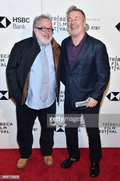 Tom Hulce and Alec Baldwin attend 'The Seagull' premiere during the 2018 Tribeca Film Festival at BMCC Tribeca PAC on April 21 2018 in New York City