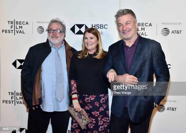 Tom Hulce Mare Winningham and Alec Baldwin attend 'The Seagull' premiere during the 2018 Tribeca Film Festival at BMCC Tribeca PAC on April 21 2018...