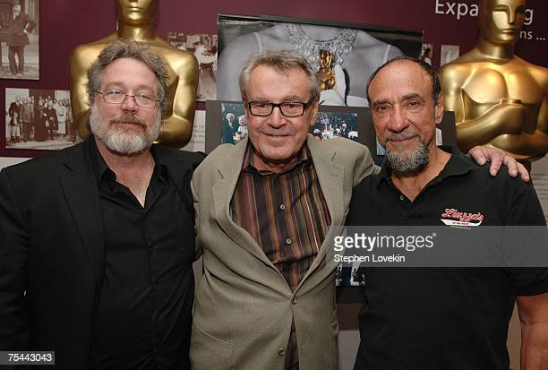 Tom Hulce Milos Forman and F Murray Abraham attend the Amadeus cast and crew reunion at the Academy Theatre Lighthouse International July 16 2007 in...