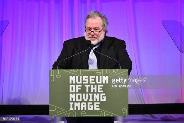 Tom Hulce speaks onstage during the Museum of the Moving Image Salute to Annette Bening at 583 Park Avenue on December 13 2017 in New York City