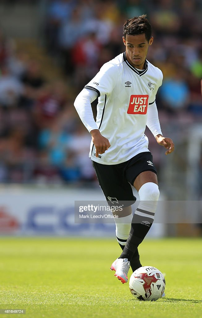 Tom Ince of Derby County during the Pre-Season Friendly match between Northampton Town and Derby County at Sixfields Stadium on July 18, 2015 in Northampton, England.