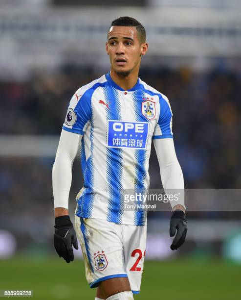 Tom Ince of Huddersfield Town during the Premier League match between Huddersfield Town and Brighton and Hove Albion at John Smith's Stadium on...