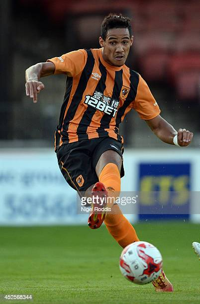 Tom Ince of Hull City during the preseason friendly match between York City and Hull City at Bootham Cresent on July 23 2014 in York England