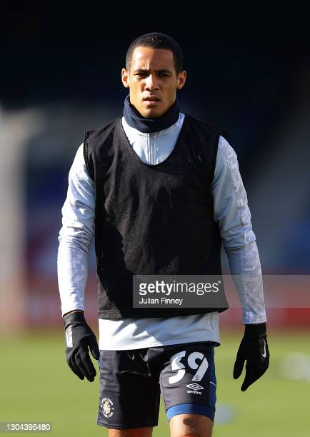 Tom Ince of Luton looks on during the Sky Bet Championship match between Luton Town and Sheffield Wednesday at Kenilworth Road on February 27, 2021...