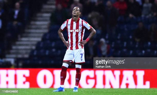 Tom Ince of Stoke City looks on after they concede a third goal during the Sky Bet Championship match between Preston North End and Reading at...