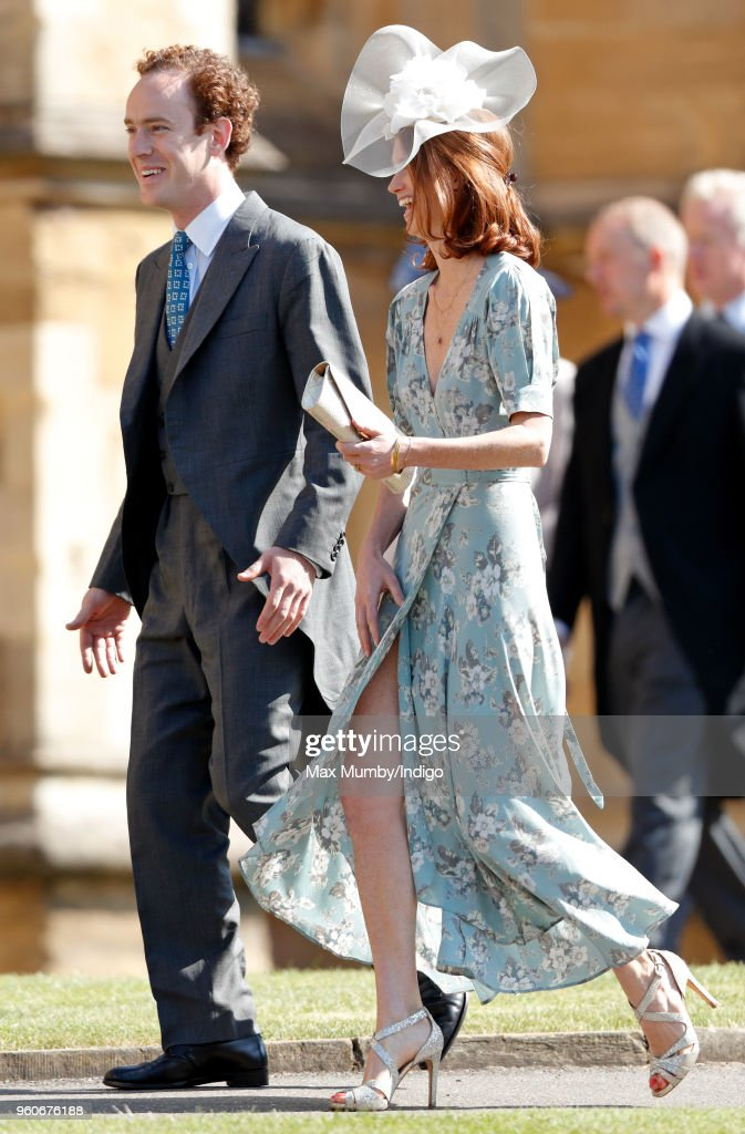 Tom Inskip and Lara Inskip attend the wedding of Prince Harry to Ms Meghan Markle at St George's Chapel, Windsor Castle on May 19, 2018 in Windsor, England. Prince Henry Charles Albert David of Wales marries Ms. Meghan Markle in a service at St George's Chapel inside the grounds of Windsor Castle. Among the guests were 2200 members of the public, the royal family and Ms. Markle's Mother Doria Ragland.