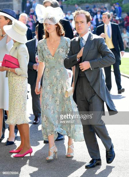 Tom Inskip arrives for the wedding ceremony of Britain's Prince Harry Duke of Sussex and US actress Meghan Markle at St George's Chapel Windsor...