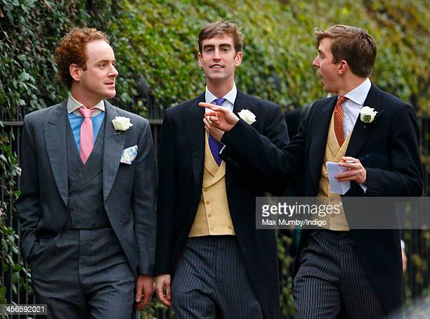 Tom Inskip attends the wedding of Jake Warren and Zoe Stewart in the Wren Chapel at the Royal Hospital Chelsea on December 14 2013 in London England