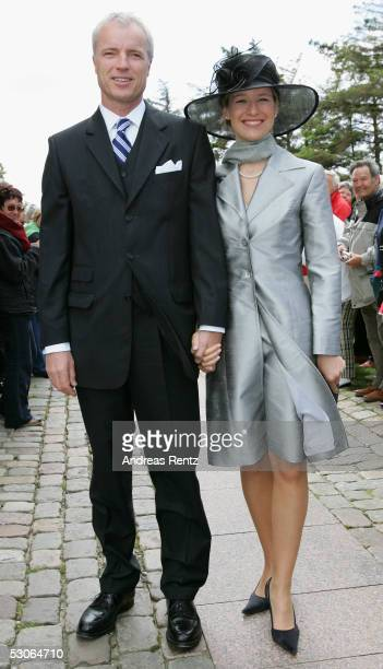 Tom Jacobi and Katherina Freiberg pose for a photograph at the Sankt Severin church on June 11 2005 at Sylt in Germany Michael Stich and Alexandra...