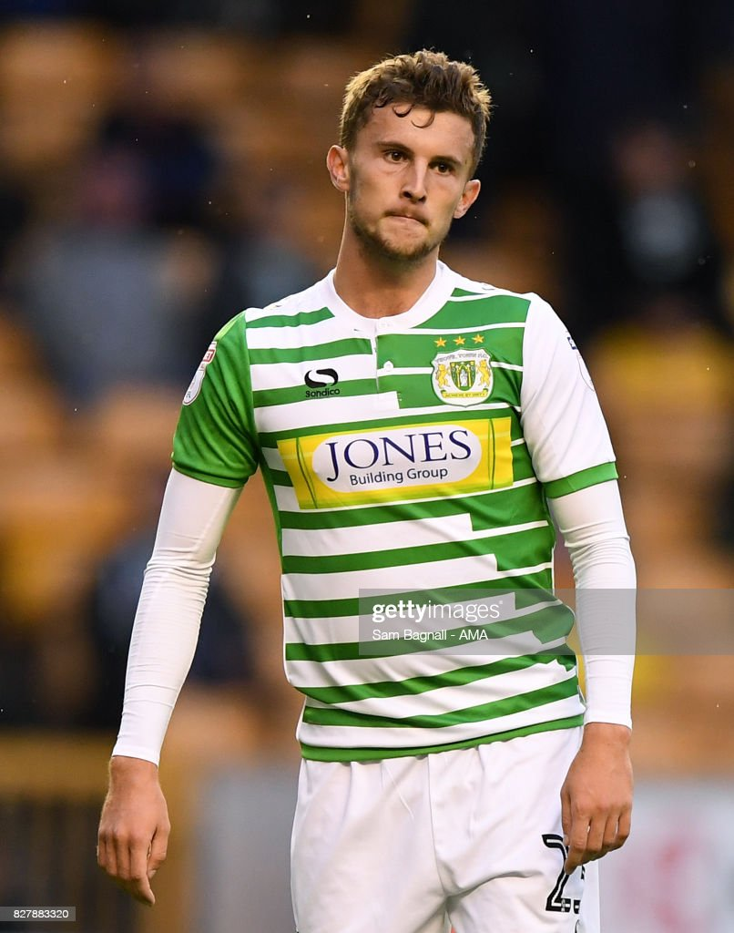 Tom James of Yeovil Town during the Carabao Cup First Round match between Wolverhampton Wanderers and Yeovil Town at Molineux on August 8, 2017 in Wolverhampton, England.
