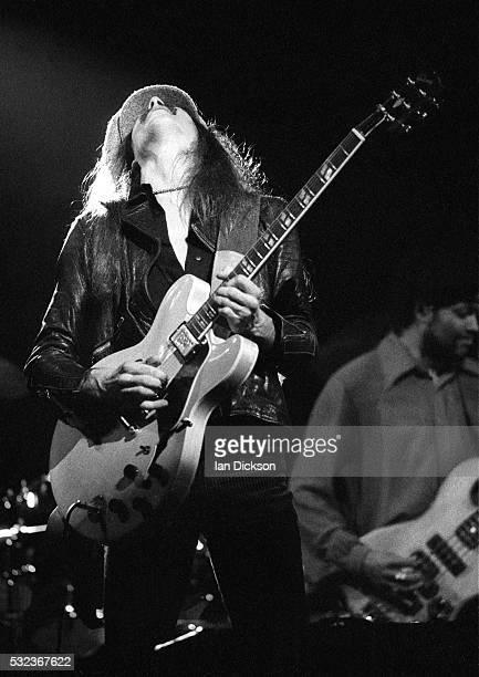 Tom Johnston of Doobie Brothers performing on stage The Rainbow London United Kingdom 1975