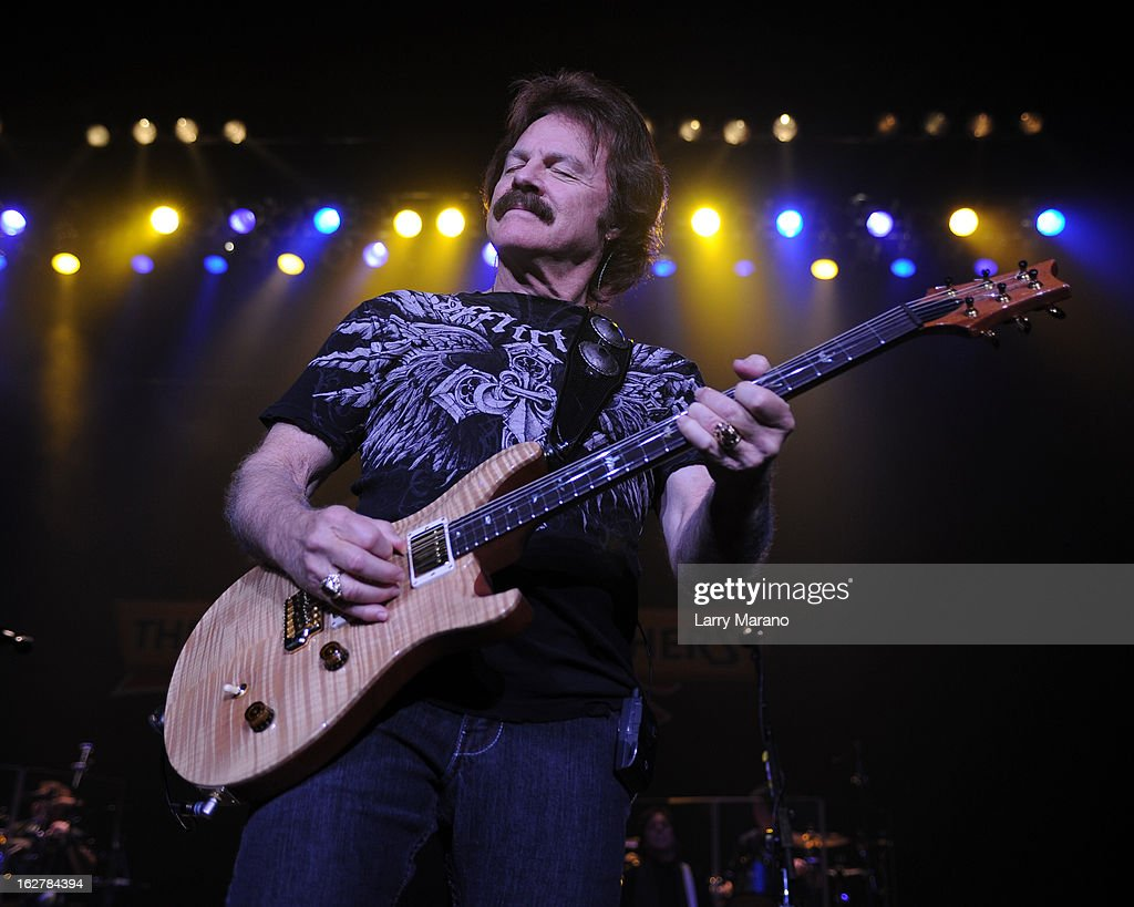 Tom Johnston of The Doobie Brothers performs at Hard Rock Live! in the Seminole Hard Rock Hotel & Casino on February 26, 2013 in Hollywood, Florida.
