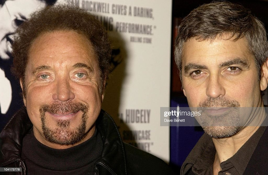 Tom Jones And George Clooney Compare Goaty Beards, Confessions Of A Dangerous Mind The Movie That Marks The Directorial Debut.premiered In London Last Night.and The Party Was At Elyceum At The Cafe Royal