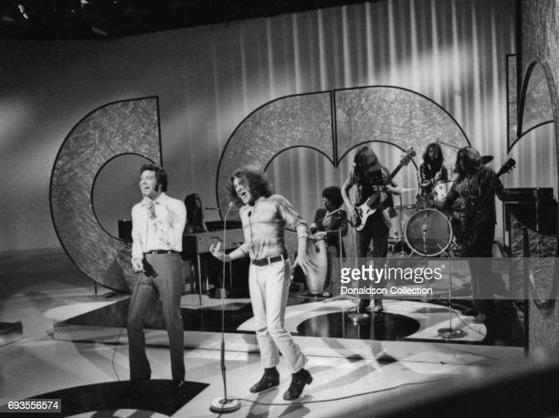 Tom Jones and Joe Cocker performs as a part of Ace Trucking Company on This Is Tom Jones TV show in circa 1970 in Los Angeles California