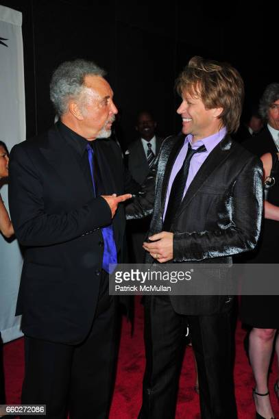 Tom Jones and Jon Bon Jovi attend Songwriters Hall of Fame 40th Anniversary Induction Ceremony and Gala at Marriott Marquis Hotel NYC on June 18 2009...