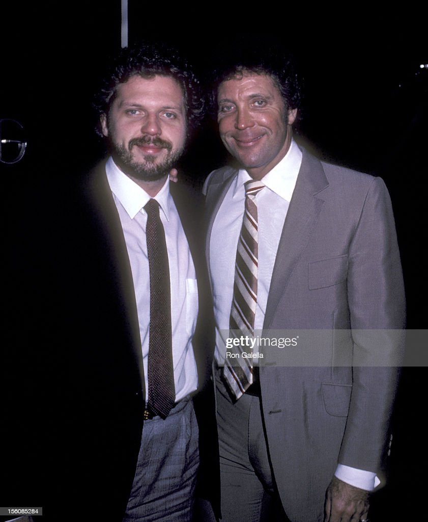 Tom Jones and son Mark Woodward attend 'George Benson's Party' on