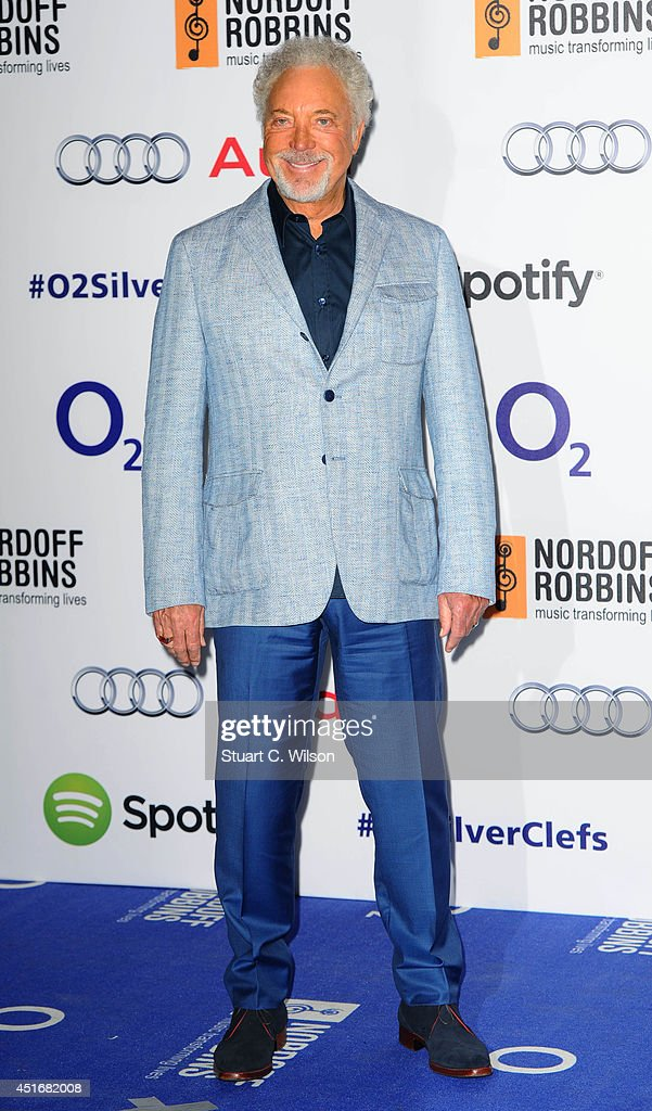 Tom Jones attends the Nordoff Robbins 02 Silver Clef awards at London Hilton on July 4, 2014 in London, England.