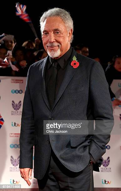 Tom Jones attends the Pride Of Britain awards at the Grosvenor House Hotel on October 31 2016 in London England
