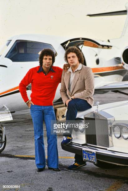 Tom Jones is a Welsh singer His career has spanned six decadesTom Jones and his son Mark Jones photographed with their Rolls Royce at Van Nuys...