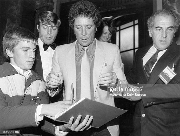 Tom Jones leaves the Britania Hotel M/X for his concert at the Apollo Picture Tony Spencer Tom Jones leaves the Britania Hotel M/X for his concert at...