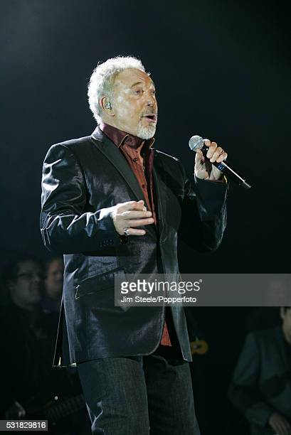 Tom Jones performing on stage at Wembley Arena in London on the 24th October, 2009.