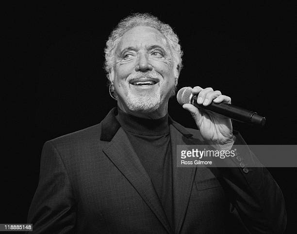 Tom Jones performs on stage during the 1st day of the T In The Park Festival 2011at Balado on July 8 2011 in Kinross United Kingdom