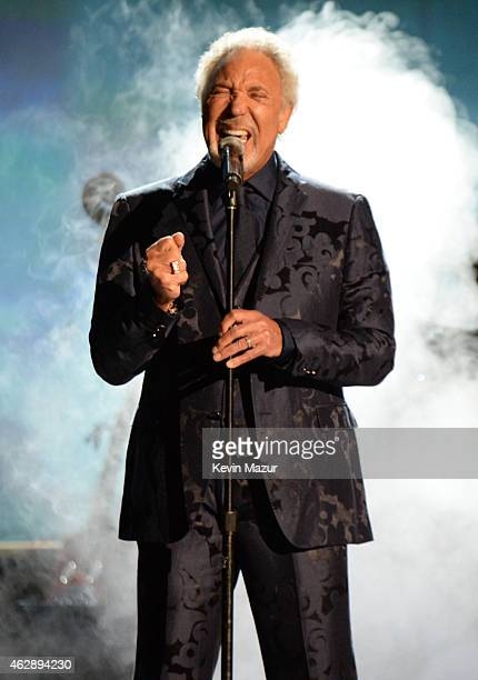Tom Jones performs onstage at the 25th anniversary MusiCares 2015 Person Of The Year Gala honoring Bob Dylan at the Los Angeles Convention Center on...