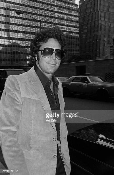 Tom Jones singer outside the Waldorf Astoria circa 1970 New York