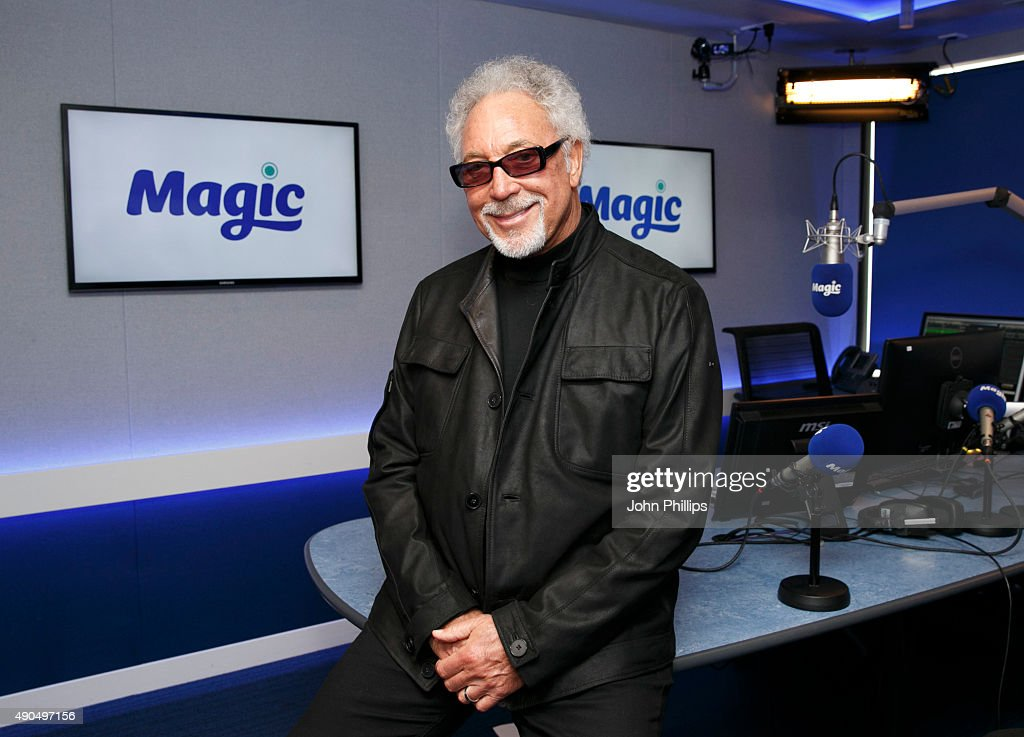 Tom Jones visits Magic Radio on September 29, 2015 in London, England.