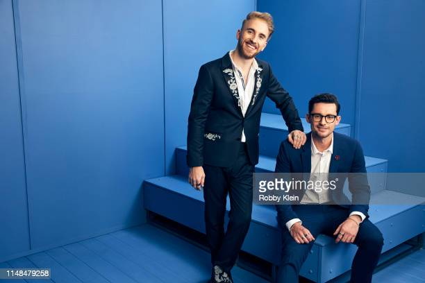 Tom Jordan and Mitch Thompson of the musical duo Seaforth pose for a portrait during the 2019 CMT Music Awards at Bridgestone Arena on June 5 2019 in...