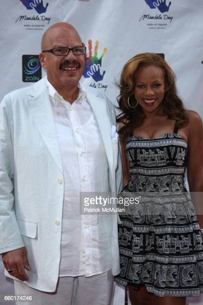 Tom Joyner and Donna Richardson attend MANDELA DAY a 46664 Celebration Concert at Radio City Music Hall on July 18 2009 in New York City