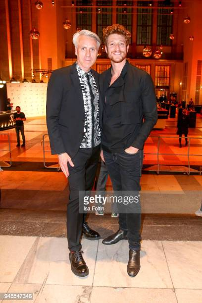 Tom Junkersdorf and German actor Daniel Donskoy during the Echo Award after show party at Palais am Funkturm on April 12 2018 in Berlin Germany