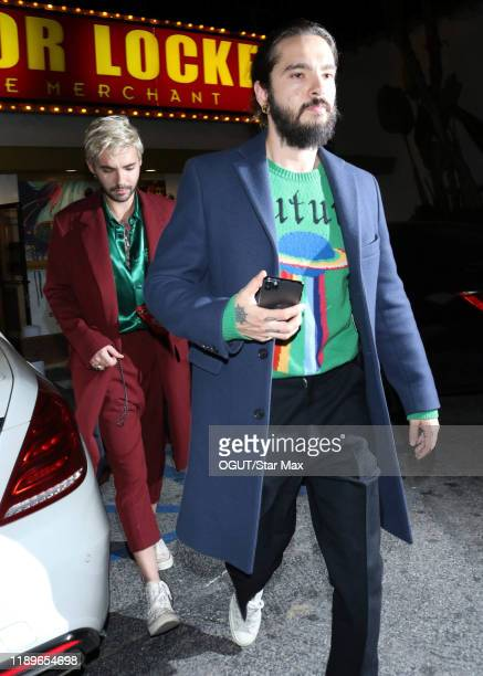 Tom Kaulitz and Bill Kaulitz are seen on December 19 2019 in Los Angeles California