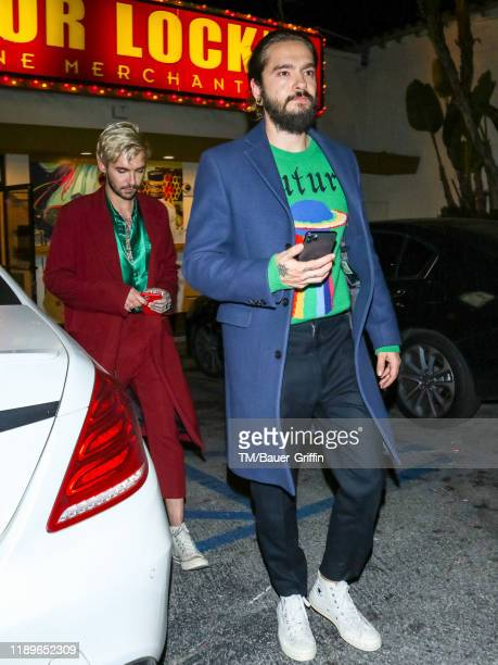 Tom Kaulitz and Bill Kaulitz are seen on December 20 2019 in Los Angeles California