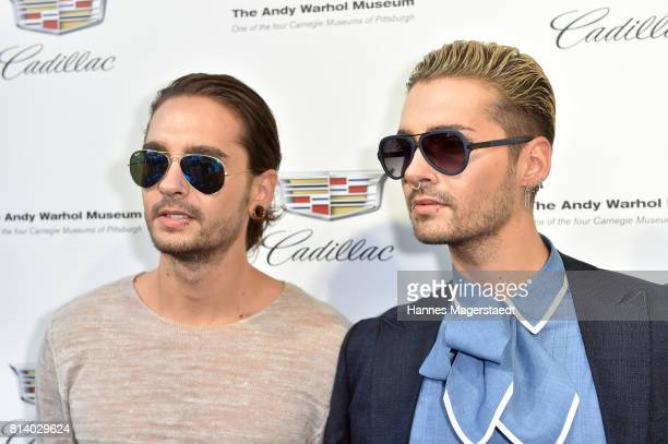 Tom Kaulitz and Bill Kaulitz attend the Cadillac House Opening at Deutsches Museum on July 13 2017 in Munich Germany