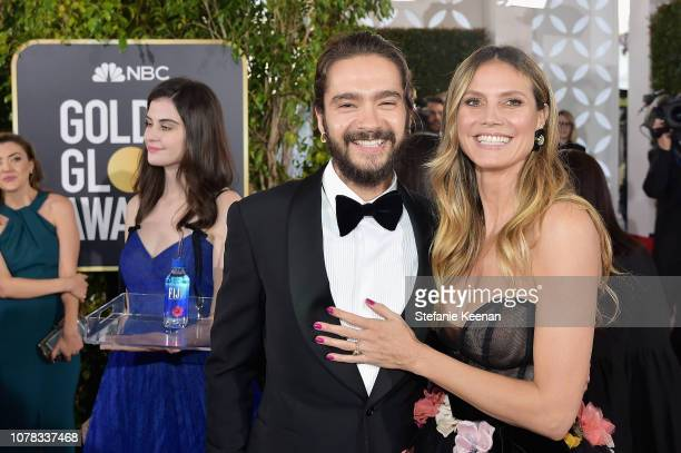 Tom Kaulitz and Heidi Klum attend FIJI Water at the 76th Annual Golden Globe Awards on January 6 2019 at the Beverly Hilton in Los Angeles California