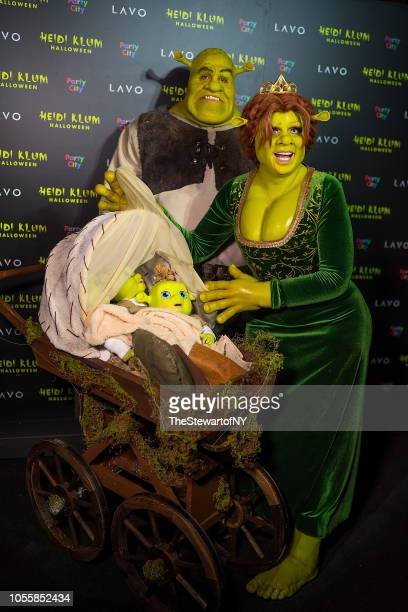 Tom Kaulitz and Heidi Klum attend Heidi Klum's 19th Annual Halloween party at Lavo on October 31 2018 in New York City