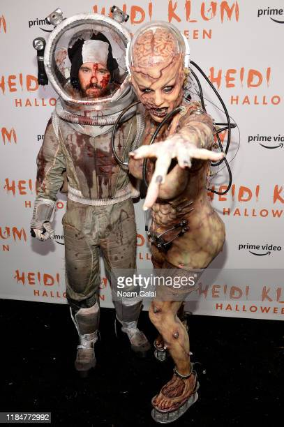 Tom Kaulitz and Heidi Klum attend Heidi Klum's 20th Annual Halloween Party presented by Amazon Prime Video and SVEDKA Vodka at Cathédrale New York on...