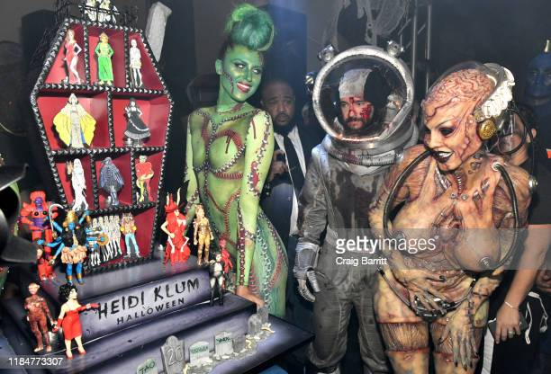 Tom Kaulitz and Heidi Klum attend Heidi Klum's 20th Annual Halloween Party presented by Amazon Prime Video and SVEDKA Vodka at Cathédrale New York on...