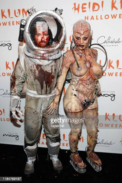 Tom Kaulitz and Heidi Klum attend Heidi Klum's Annual Hallowe'en Party at Cathédrale on October 31 2019 in New York City