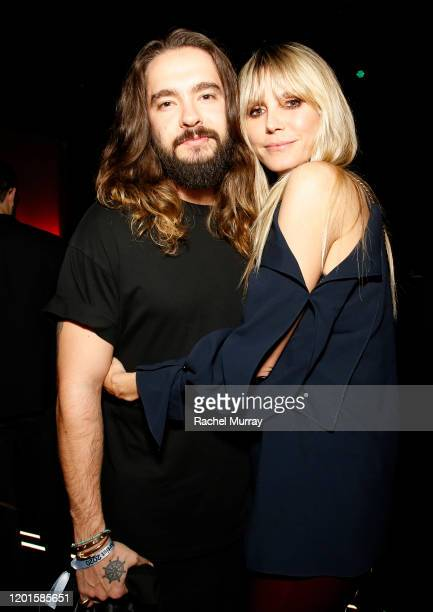 Tom Kaulitz and Heidi Klum attend Spotify Hosts Best New Artist Party at The Lot Studios on January 23 2020 in Los Angeles California