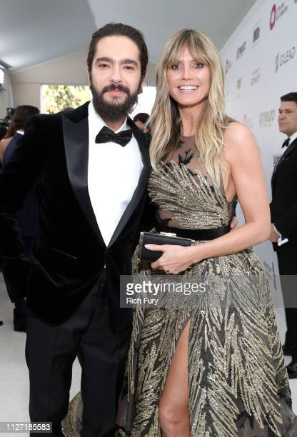 Tom Kaulitz and Heidi Klum attend the 27th annual Elton John AIDS Foundation Academy Awards Viewing Party sponsored by IMDb and Neuro Drinks...