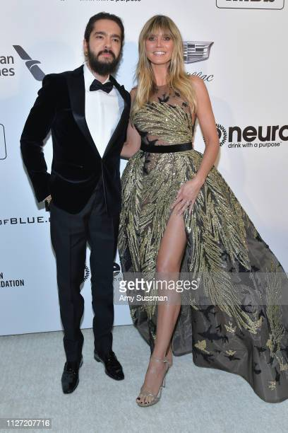 Tom Kaulitz and Heidi Klum attend the 27th annual Elton John AIDS Foundation Academy Awards Viewing Party celebrating EJAF and the 91st Academy...