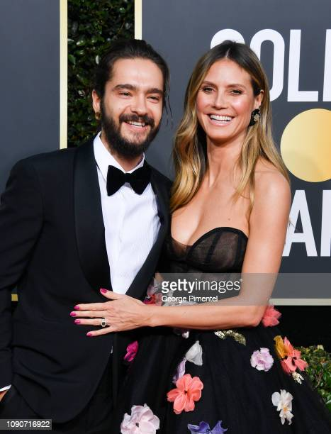 Tom Kaulitz and Heidi Klum attend the 76th Annual Golden Globe Awards held at The Beverly Hilton Hotel on January 06, 2019 in Beverly Hills,...