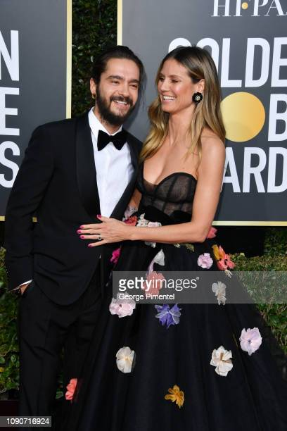 Tom Kaulitz and Heidi Klum attend the 76th Annual Golden Globe Awards held at The Beverly Hilton Hotel on January 06 2019 in Beverly Hills California